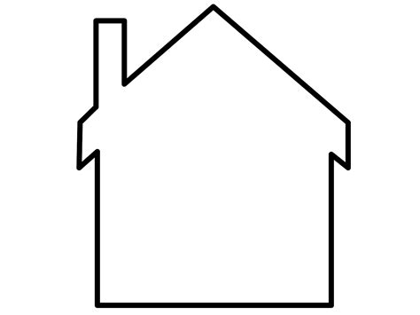 clipart house outline clipart best
