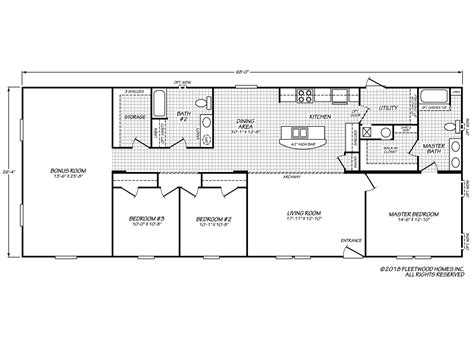 fleetwood mobile home plans inspiration 28683i fleetwood homes