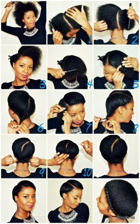 simple and versatile african hair style simple protective style for relaxed natural or