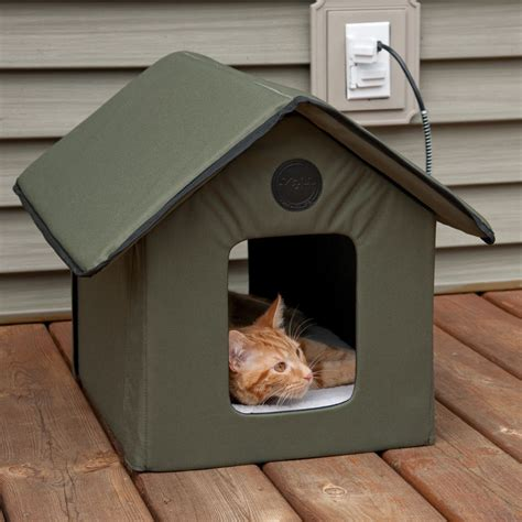 Outdoor Heated Cat House by Outdoor Heated Cat House Pets Warm Waterproof