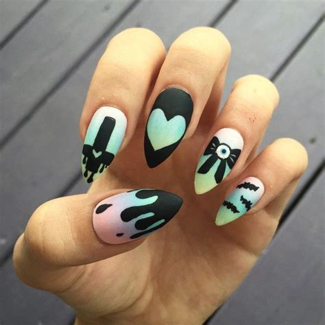 nail art pastel penguins makeup videos best 25 goth nails ideas on pinterest witch nails