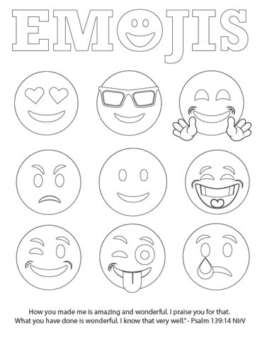 printable pages of emojis free emojis coloring page children s pastor only