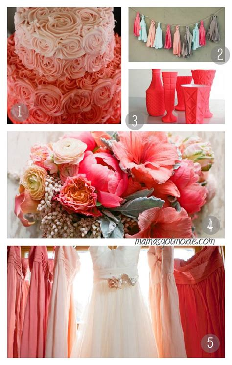 coral and grey wedding centerpieces grey and coral wedding coral gray wedding palette