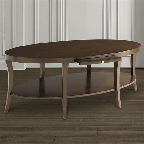 Oval Coffee Tables With Storage Oval Coffee Table With Pullout Shelf