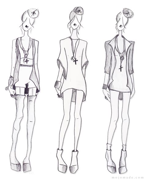 mojomade fashion sketches my personal croquis