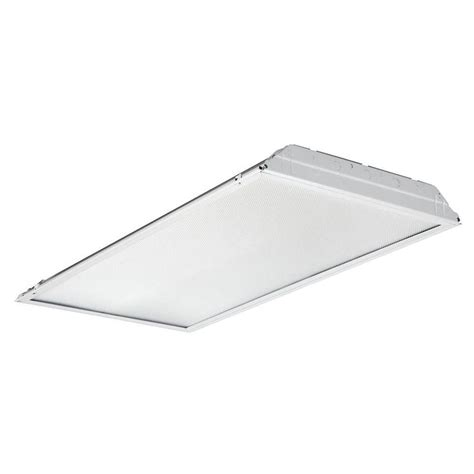 2 X 4 Ceiling Light Lithonia Lighting 2gtl4 2 Ft X 4 Ft White Led Prismatic Lens Troffer 2gtl4 The Home Depot