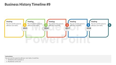 historical timeline template business history timeline editable powerpoint template