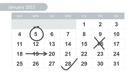 Calendar Slides Free 2015 Calendar Template For Powerpoint Slidemodel