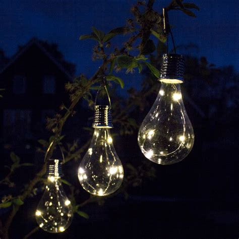 Decorative Hanging Solar Bulb Garden Lights Pack Of 6 Decorative Hanging Solar Lights