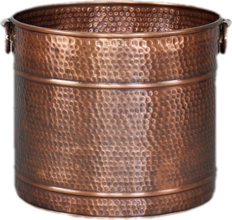 Large Copper Planter Hammered 15 Quot Diameter Traditional Large Copper Planters