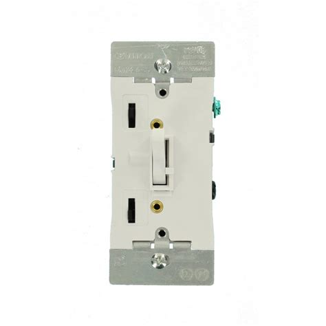 Dimmer Ac 2000 Watt 1 leviton 600 watt 120 volt push on single pole ac