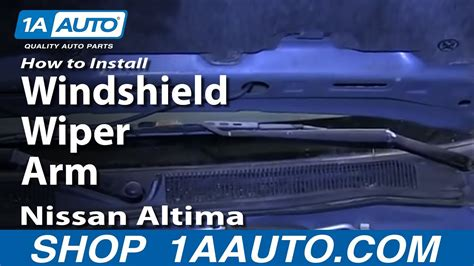 motor repair manual 2008 nissan sentra windshield wipe control how to replace windshield wiper arm 98 01 nissan altima youtube