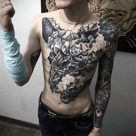 60 badass chest tattoos for men manly ink design ideas