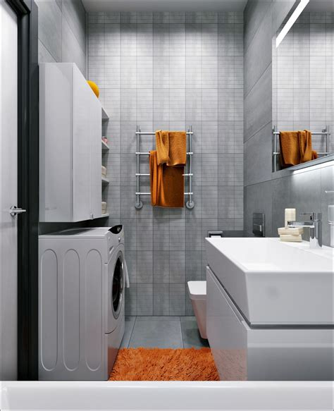 orange and grey bathroom 3 small apartments that rock uncommon color schemes with floor plans