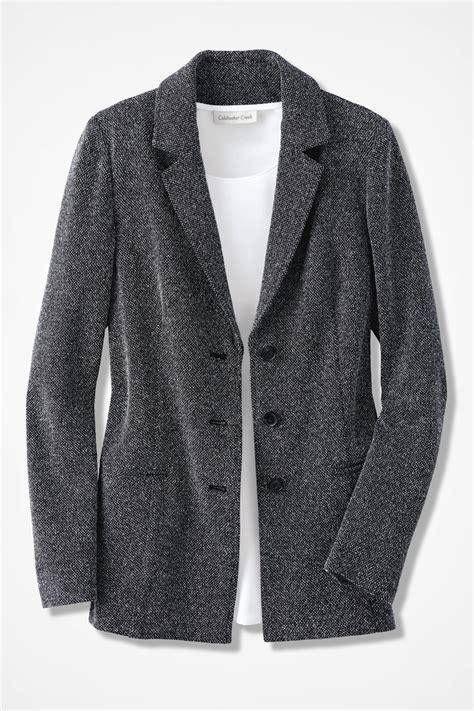 knit jacket stretch tweed knit jacket coldwater creek