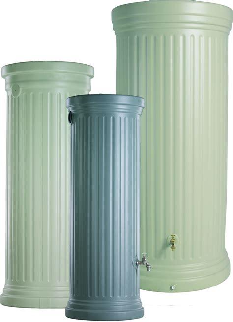 recuperateur eau de pluie 1000 litres 2384 r 233 cup 233 rateur d eau de pluie colonne romaine gris 1000 l