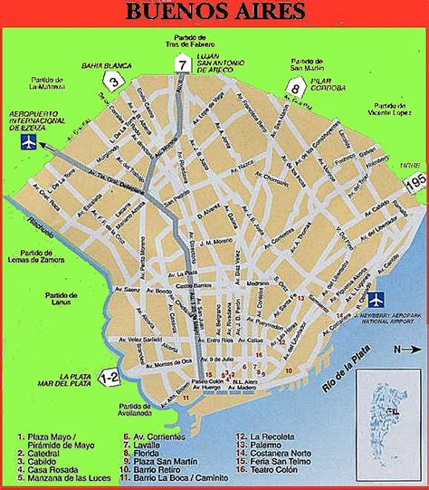 buenos aires map buenos aires argentina map