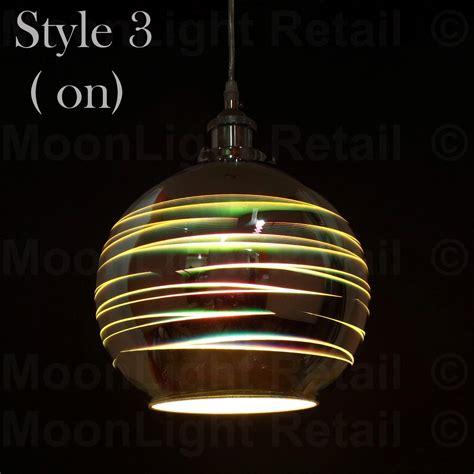 multi colored glass pendant lights modern 3d colored oberon holographic pendant ceiling light