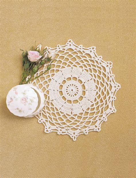crochet doily pretty doily crochet pattern favecrafts com