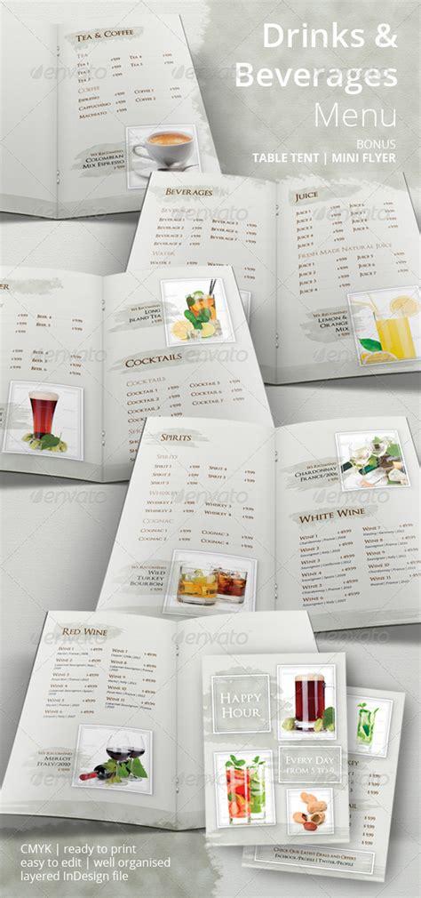 beverage menu template drinks and beverages menu menu templates menu and beverage