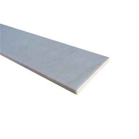 ms international white single bevelled threshold 6 in x