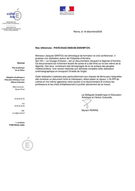 Demande De Lettre De Recommandation Académique Le Voyage D Ulysse Modalit 233 Lettre De Recommandation