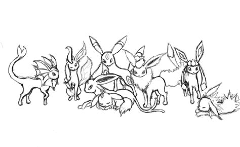 pokemon coloring pages all eevee evolutions pokemon coloring pages eevee evolutions coloring home