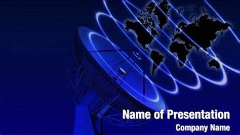 Parabolic Antenna Powerpoint Templates Powerpoint Satellite Ppt Template Free
