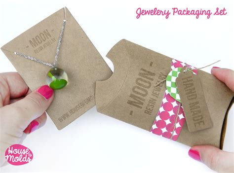 How To Make Paper Packaging - kraft paper simple blank jewelry packaging set pillow