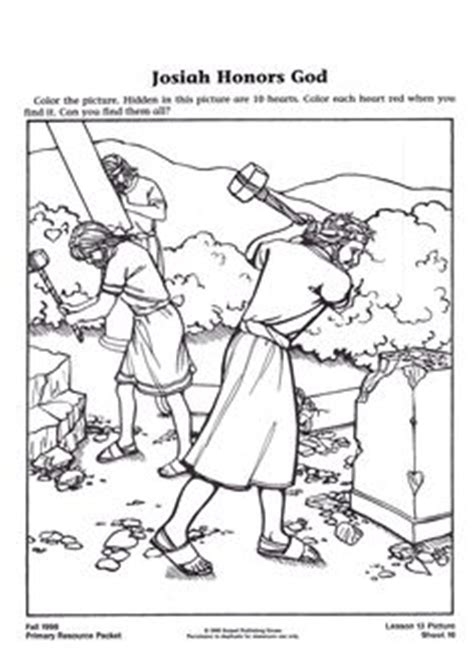 1000 Images About Bible Josiah On Pinterest King King Joash Coloring Page