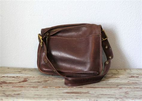 This Is A Coach Bag It Was Handcrafted In China - vintage coach purse brown leather saddle bag