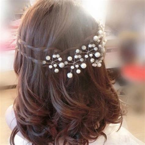5 Inspired Wedding Hairstyles by 5pcs Simulate Pearl Hairpins Hairstyles Wedding Bridal