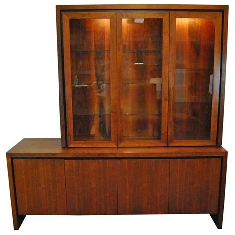 teak china cabinet mid century modern two pc teak buffet china display cabinet by dillingham for sale at 1stdibs