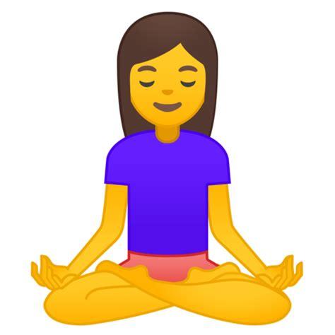 emoji yoga person in lotus position emoji