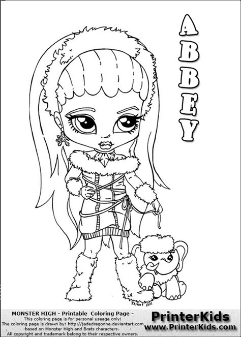 monster high coloring pages printerkids monster high coloring pages to print you are here