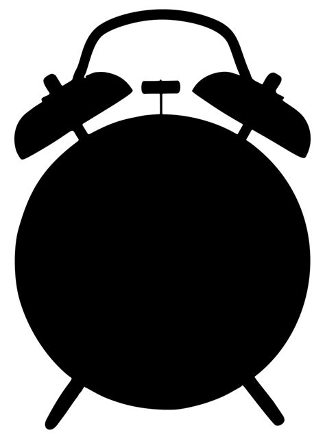 OnlineLabels Clip Art - Alarm Clock Silhouette