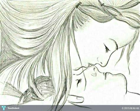 romantic kiss sketching m ali ali touchtalent