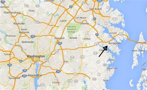 maryland map annapolis annapolis maps downtown and the surrounding area