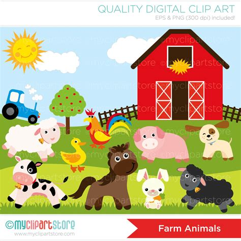 farm animal clipart farm animals clipart forest animal pencil and in color