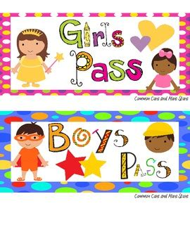 boys bathroom pass older kids set of 10 passes bathroom pass boys girls hall pass nurse