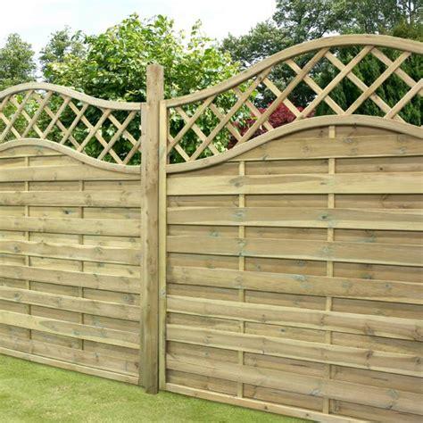 Garden Fence Panels 4ft X 5 11 Waltons Prague Wooden Garden Fencing Panels