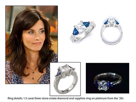 monica from friends friends monica s engagement ring ring detail 1 5 carat