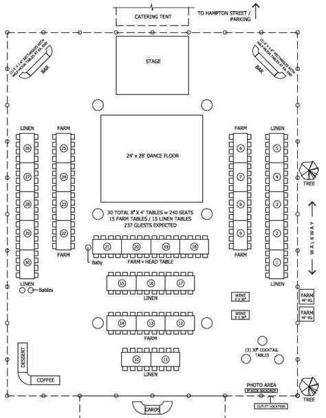 layout of wedding party floor plan for tent barn wedding reception wedding