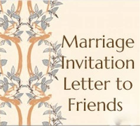 reply for a friends marriage invitation invitation letter free letters