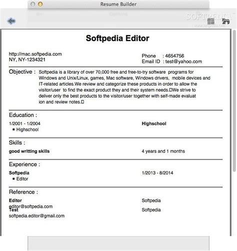 Resume Builder Program by Resume Builder For Mac Letsridenow