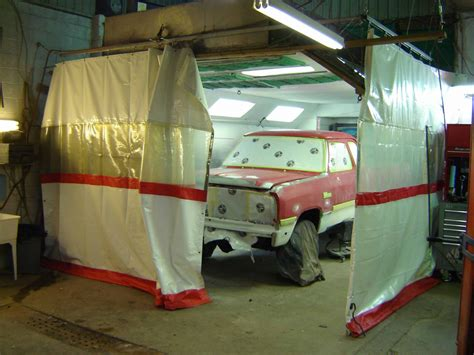 paint booth curtain industrial curtains and track
