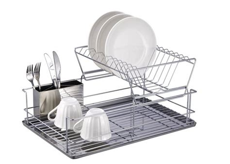 Dish Rack With Drainer Tray by 10 Easy Pieces Countertop Dish Drainers Remodelista