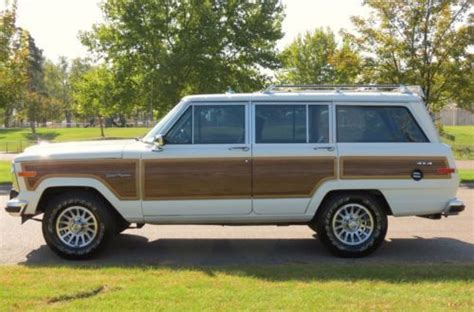 1989 jeep wagoneer interior sell used 1989 jeep grand wagoneer original paint and