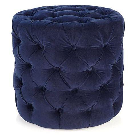 round blue tufted ottoman button tufted navy blue velvet cube ottoman