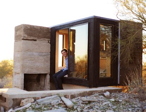 micro houses taliesin west miner s shelter